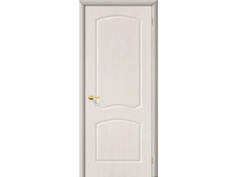 ПВХ Дверь Альфа Г Белый дуб (под заказ)