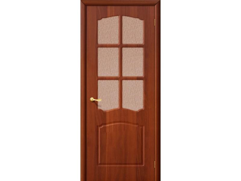 ПВХ Дверь Альфа C  Итальянский орех