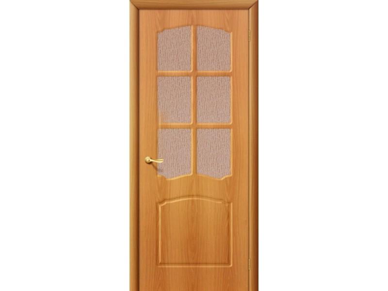 ПВХ Дверь Альфа C Миланский орех