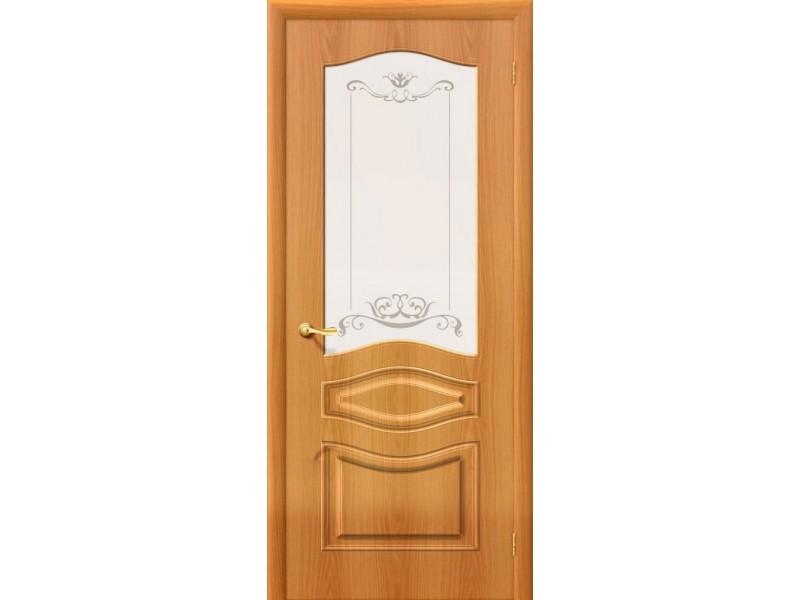ПВХ Дверь Модена C Миланский орех