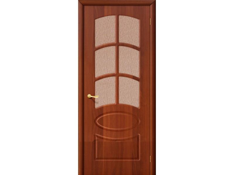 ПВХ Дверь Неаполь С Итальянский орех