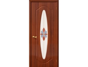 ПВХ Дверь Орбита Плюс С Итальянский орех