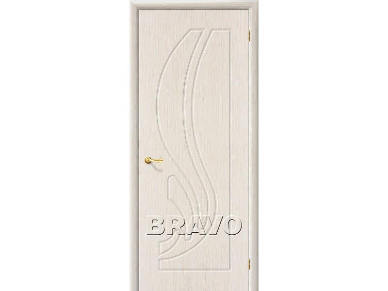 ПВХ Дверь Лотос Г Белый дуб