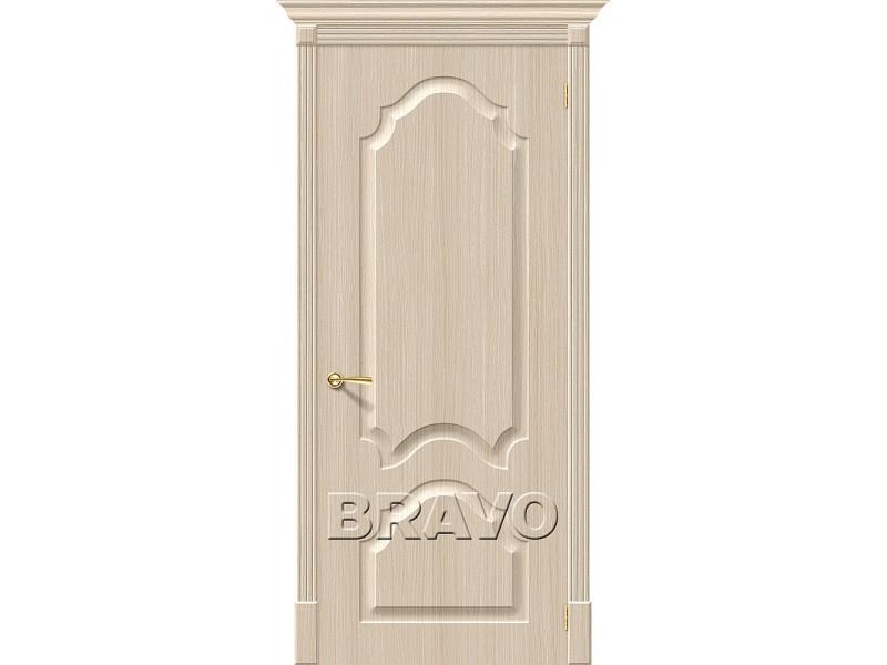 ПВХ Дверь Скинни-32  Белый Дуб