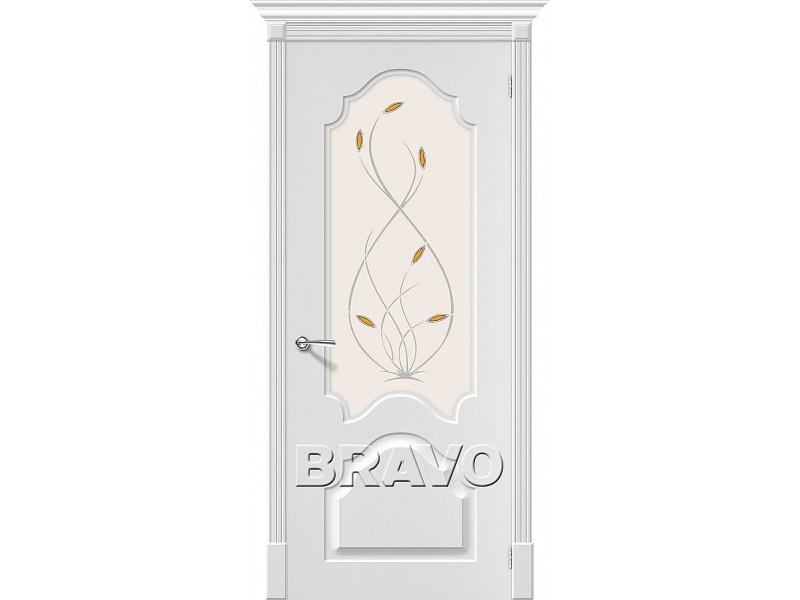ПВХ Дверь Скинни-33 С Белый