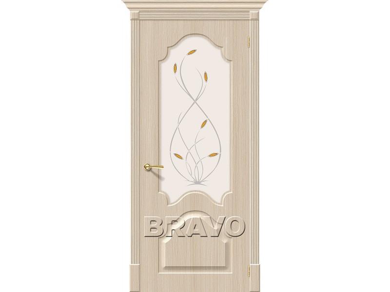 ПВХ Дверь Скинни-33 С Белый Дуб