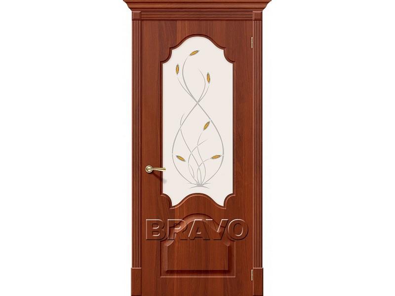 ПВХ Дверь Скинни-33 С Итальянский Орех