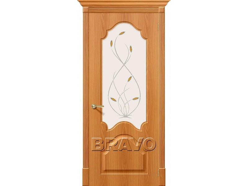 ПВХ Дверь Скинни-33 С Миланский Орех