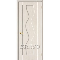 ПВХ Дверь Вираж Г Белый Дуб (под заказ)