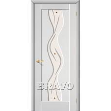 ПВХ Дверь Вираж С Белый