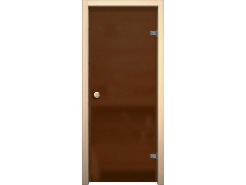 Дверь для сауны и бани Кноб Е Бронза Сатинато