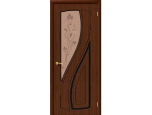 Дверь Шпон фан-лайн Лагуна С Ф-17 (Шоколад)