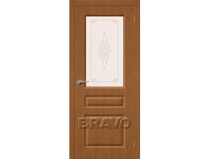 Дверь Шпон фан-лайн Статус-15 С (Орех)