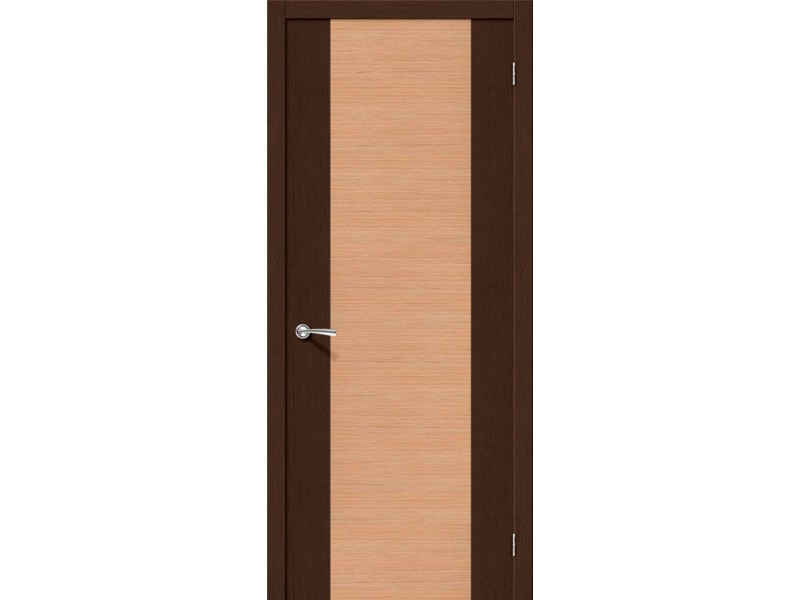 Дверь Шпон фан-лайн Этюд Ф-27 (Венге)/Ф-01 (Дуб)