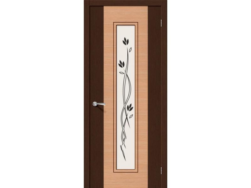 Дверь Шпон фан-лайн Этюд С Ф-27 (Венге)/Ф-01 (Дуб)