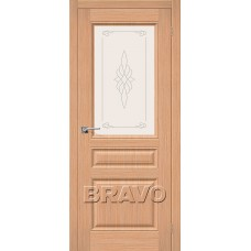 Дверь Шпон фан-лайн Статус-15 С (Дуб)