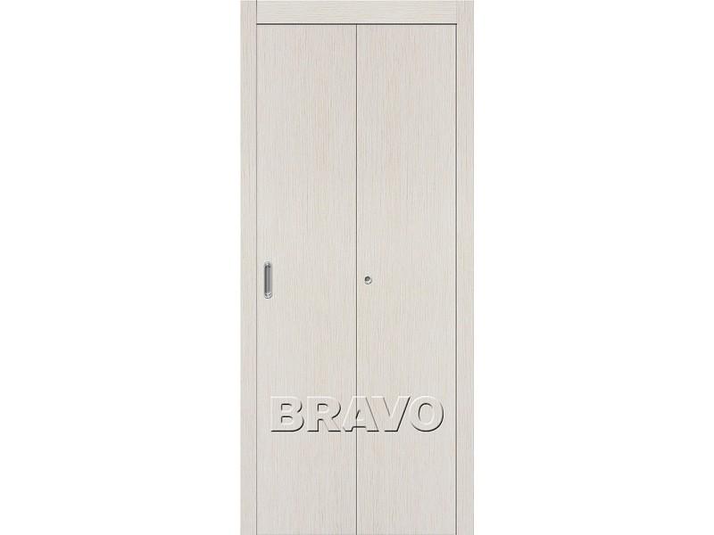 Дверь Складная Гост  Л-21 Белый Дуб