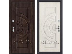 Входная дверь  GROFF P3-302 П-28 (Темная Вишня)/П-25 (Беленый Дуб)
