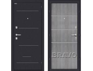 Входная дверь  Лайн (66мм) Grey Crosscut